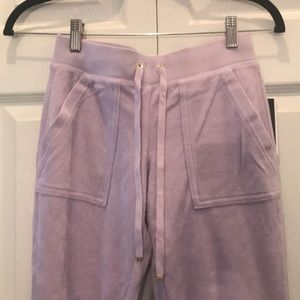 Juicy Couture lavender terry pants size xxs